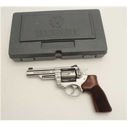 "Ruger Model GP-100 Match Champion DA  revolver, .357 Magnum caliber, 4"" barrel,  stainless, stippled"