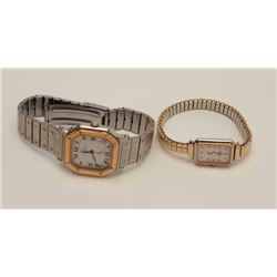 Man's and Lady's wristwatch set by Michel  Herbelin, Paris; marked Stainless/Made in  France; near f