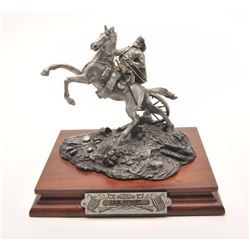 "Pewter sculpture by Fran Barnum and issued by  Chilmark Collectors Society entitled ""J.E.B.  Stuart"""