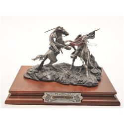 "Pewter sculpture by Fran Barnum and issued by  Chilmark Collectors Society entitled  ""Gaines' Mill"","