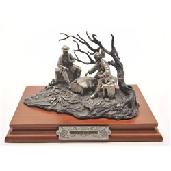 "Pewter sculpture by Fran Barnum and issued by  Chilmark Collectors Society entitled ""Lee  and Jackso"