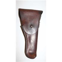 "U.S. military leather flap holster for 1911  pistol marked ""Graton  & Knight Co./1943"" on  back; ove"