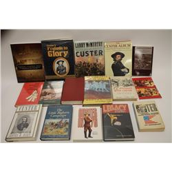 Lot of 2 boxes of approximately 34 different  reference books on General George Armstrong  Custer; a