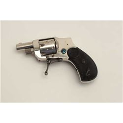"Baby Hammerless pocket folding trigger  revolver, .22 caliber, 1.25"" barrel, nickel  finish, checker"