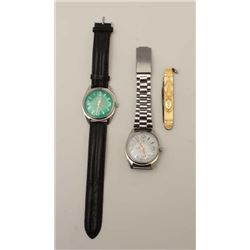 Men's vanity lot as described: 2 Titus 17  jewel wrist watches and gold filled antique  vest pocket