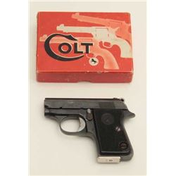 Colt Junior semi-auto pistol, .25 caliber,  serial #2483.  The pistol is in very good  overall condi