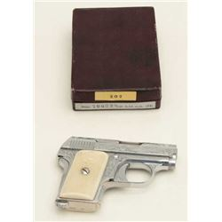"Astra Model 200 semi-auto pistol, .25  caliber, serial #706238.  Advertised as ""Vest  Pocket Sized"","