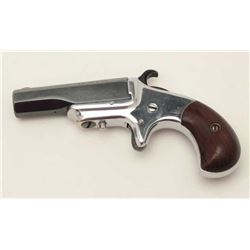 XL Model derringer by Hopkins & Allen, .41  caliber, refinished blue on barrel and nickel  on frame,