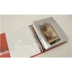 Three ring binder of photos and information  on Civil War Veteran James F. Case, Co. E,  22nd N.Y. I