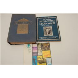 Old U.S. and Foreign stamp collection PLUS an  old foreign currency collection.    Est.:   $100-$175