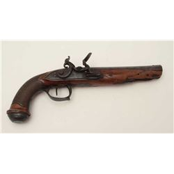 French style Napoleonic era Officers  flintlock pistol by Bury of Liege, Belgium,  ca. 1805-1815, in