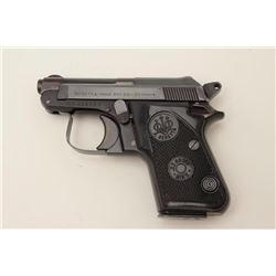 "Beretta Model 950BS pocket pistol, .22 short  caliber, 2.5"" barrel, blued finish, checkered  grips,"
