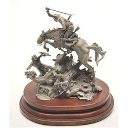 "Pewter sculpture by Michael Boyett and issued  by the Boyett Collectors Registry entitled  ""When War"