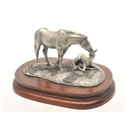 "Pewter sculpture by Brian Rodden and issued  by Chilmark Collectors Society entitled ""Rise  and Shin"