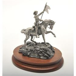 "Pewter sculpture by Don Polland and issued by  Chilmark Collectors Society entitled ""2 For  the Colo"
