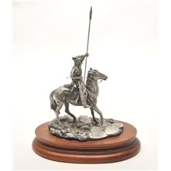 "Pewter sculpture by Donald Polland and issued  by Chilmark Collectors Society entitled ""Dog  Soldier"