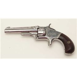 Smith & Wesson First Model, Third Issue spur  trigger revolver, .22 caliber, S/N 119587,  overall go