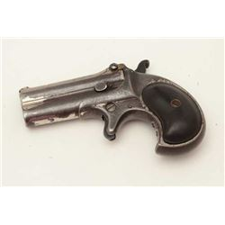 Remington O/U derringer, 2 line address, .41  caliber, S/N 88, repaired hinge, nickel  finish, check