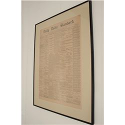 """Framed and matted original front page of the  """"Daily Bodie Standard"""", Bodie, CA. dated  September 27"""