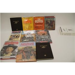 Lot of approximately 13 large hardback books  on weaponry, the old West and gunfighters  including b