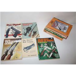 "Lot of 10 misc. gun-related books including  different editions of Gun Digest,  Kuhnhausen's ""The Ma"