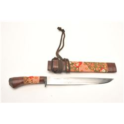 Traditional and high quality Japanese bonsai  knife with signed and damascened blade.  Measures 16 ¾