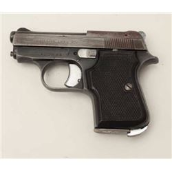 "Titan Model pocket semi-automatic pistol by  F.I.E. corp., .25 caliber, 2.5"" barrel, blued  finish,"