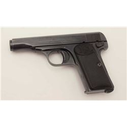 "FN/Browning Patent Pocket semi-automatic  pistol, .32 ACP caliber, 3.5"" barrel, blued  finish, check"