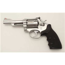 "Smith & Wesson Model 66-1 DA revolver, .357  Magnum caliber, 4"" barrel, stainless steel,  checkered"