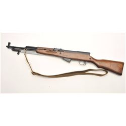 Russian SKS semi-auto rifle, 7.62 x 39  caliber, serial #NM2500.  The rifle is in  very good overall