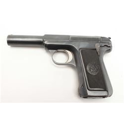 "Savage Model 1907 semi-automatic pistol, .380  caliber, 4.25"" barrel, blued finish,  checkered hard"