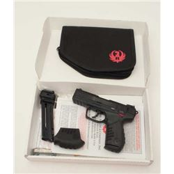 "Ruger Model SR 22 semi-automatic pistol,  .22LR caliber, 3.5"" barrel, black finish,  black grips, S/"