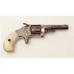 "Whitneyville .22 caliber spur trigger  revolver, .22 caliber, 2.75"" octagon barrel,  engraved, nicke"