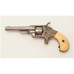 "Early production Whitneyville .22 caliber  spur trigger revolver, 3.25"" octagon barrel,  nickel fini"