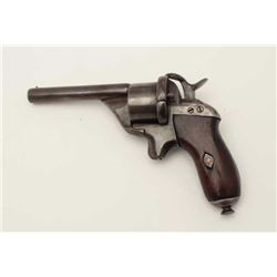 Unusual pinfire revolver of type and style  made for Papal guards to pope during mid-19th  century.