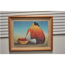 Large framed color Printer's Proof lithograph  by R.C. Gorman, hand signed and dated 1984,  entitled