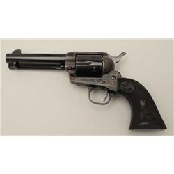 "Colt 4th Generation SAA revolver, .45  caliber, 4.75"" barrel, blued and case  hardened finish, check"