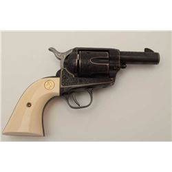 "Colt Single Action Army revolver, Sheriff's  Model .45 cal., 3"" barrel, fully and finely  engraved a"