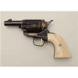 """Colt Single Action Army Sheriffs Model .44-40  cal., 3"""" barrel, fully and finely gold  inlaid by Ang"""