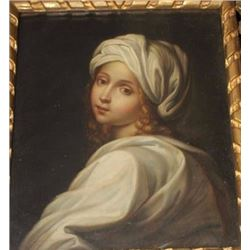 "Fine 18th century oil painting of young girl  attributed to Cipriani but unsigned. Measures  13 ¼"" x"