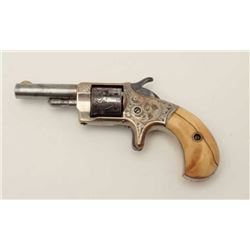 """Monitor by Whitneyville .22 caliber spur  trigger revolver, 2.25"""" round barrel, nickel  finish, engr"""