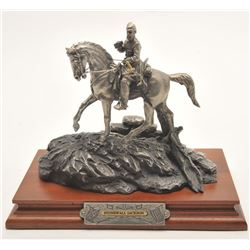 "Pewter sculpture by Fran Barnum and issued by  Chilmark Collectors Society entitled  ""Stonewall Jack"