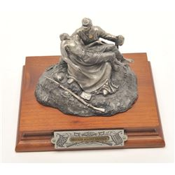 """Pewter sculpture by Fran Barnum and issued by  Chilmark Collectors Society entitled  """"Brother Agains"""
