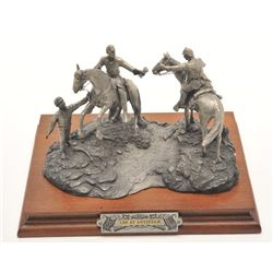 """Pewter sculpture by Fran Barnum and issued by  Chilmark Collectors Society entitled """"Lee at  Antieta"""
