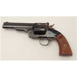 "Uberti-made for Taylor & Co. copy of a ""Wells  Fargo"" length Schofield top break revolver,  .45LC ca"