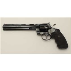 "Colt Python Model DA revolver, .357 Magnum  caliber, 8"" ventilated rib barrel, blued  finish, checke"