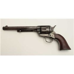 "Colt U.S. Artillery Model Single Action Army  revolver, .45 caliber, 7.5"" barrel, wood  grips, S/N 6"