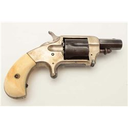 """Whitneyville .38 caliber spur trigger  revolver, desirable 2"""" octagon barrel with  two-tone silver a"""
