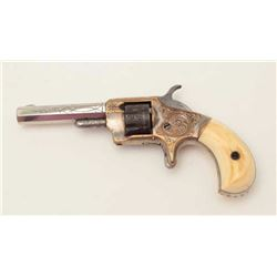 "Whitneyville .22 caliber spur trigger  revolver, 3"" octagon barrel, short cylinder,  engraved, nicke"
