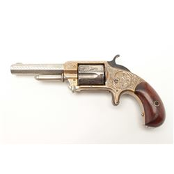 "Whitneyville .32RF caliber spur trigger  revolver, 3.25"" octagon barrel, fully  engraved, nickel fin"